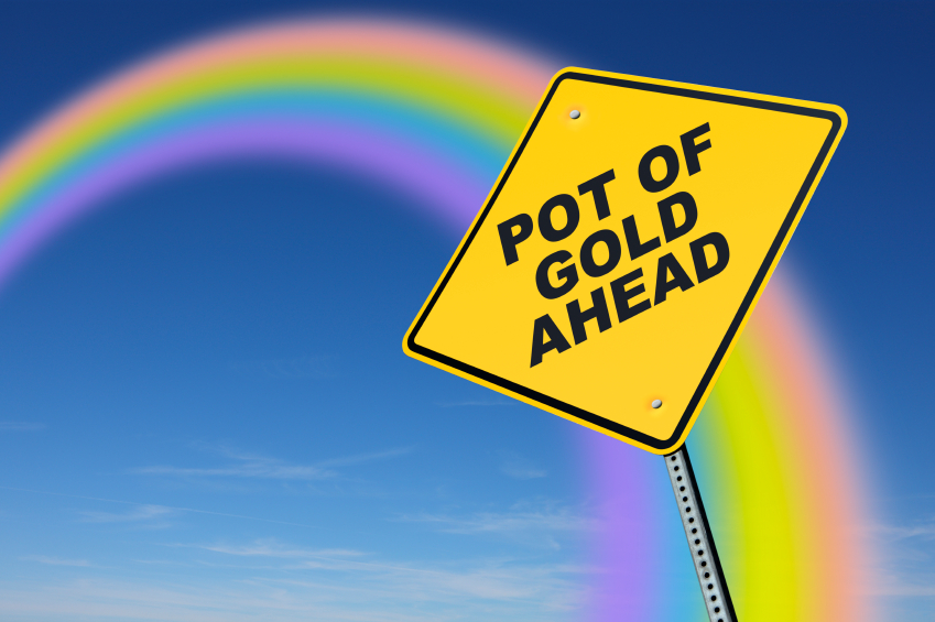 Pot-of-Gold Ahead