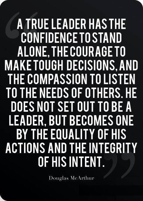 A true leader