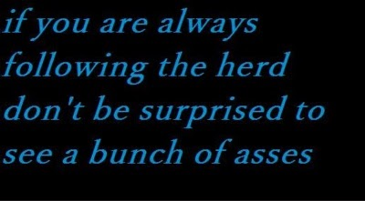 If you are always following the herd