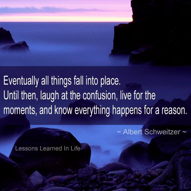 Eventually all things fall into place