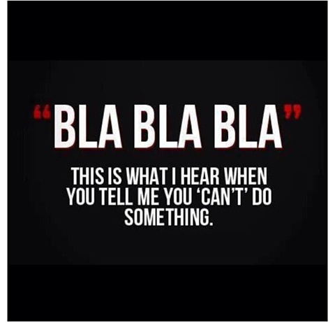 Excuses - bla bla bla