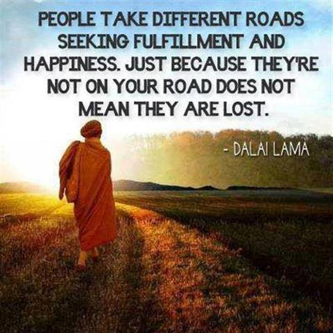 People take different roads-dalai lama